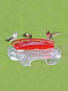 WBU Decorative Window Hummingbird Feeder